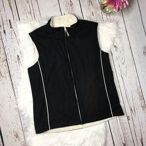 Izod Womens fleece lined Zip Front Vest Size Small